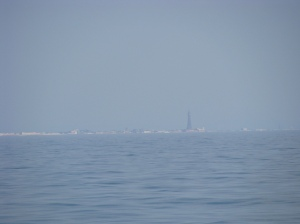 Blackpool disappearing into a heat haze!