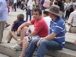 Tourists...