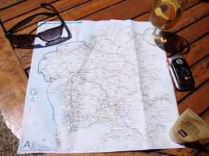Our journey south from La Coruna to Portosin