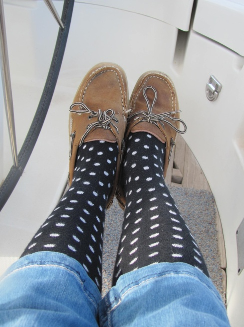 I knew those spotty knee-length socks would come in handy sometime!