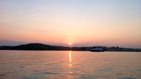 The sun sets over Porto Heli